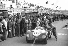 Jaguar C Type Tony Rolt, Duncan Hamilton (Winners)and Stirling Moss. 1953 Le Mans 24 hours
